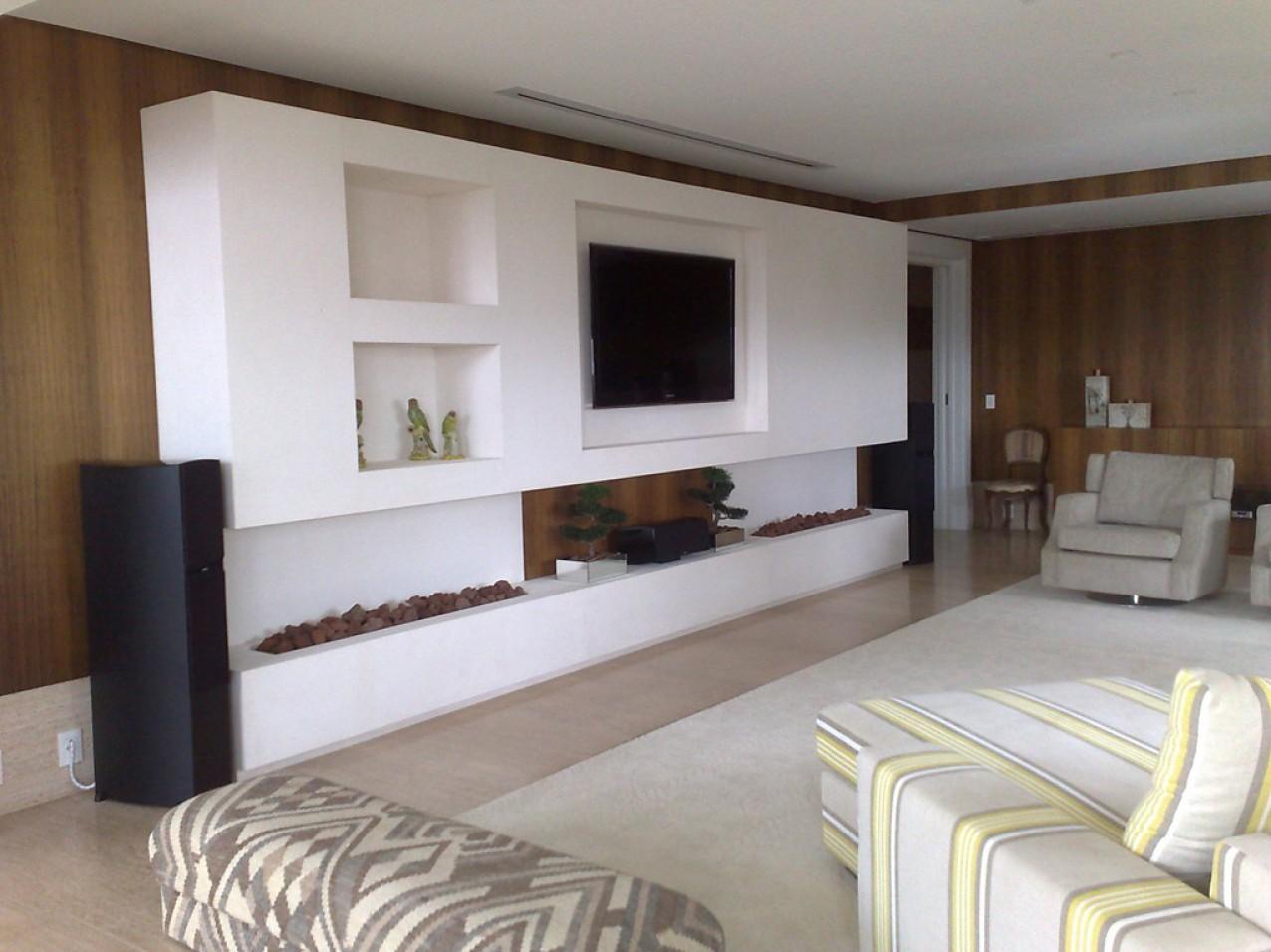 Obra residencial Cidade Jardim I - Sala de TV