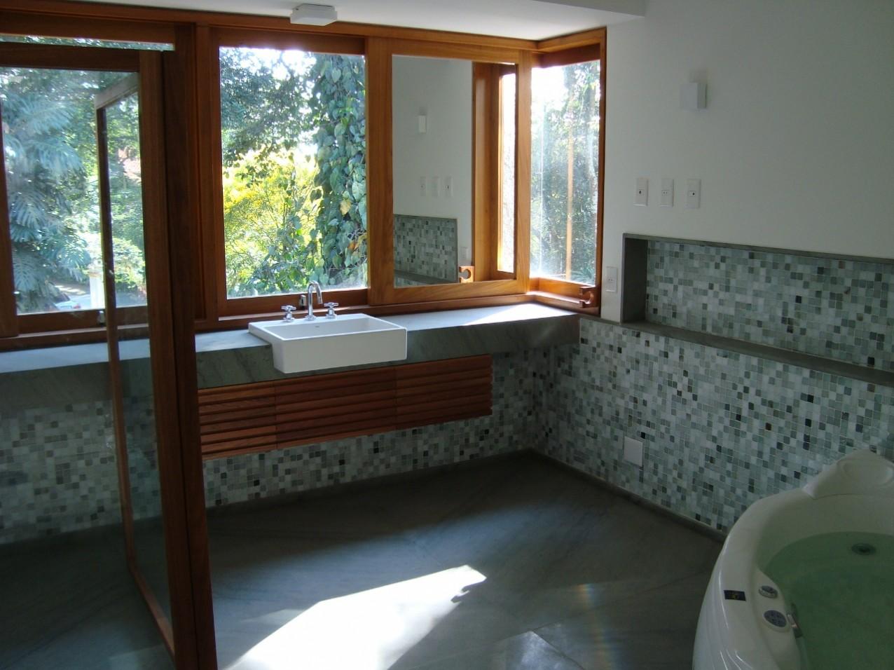 Obra residencial Chácara Flora I - Lavabo