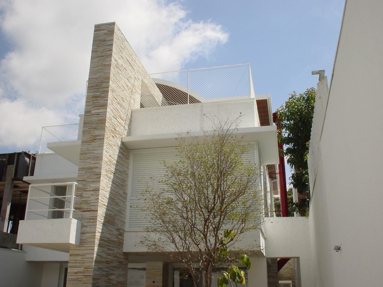 Obra residencial Pinheiros I - Fachada posterior