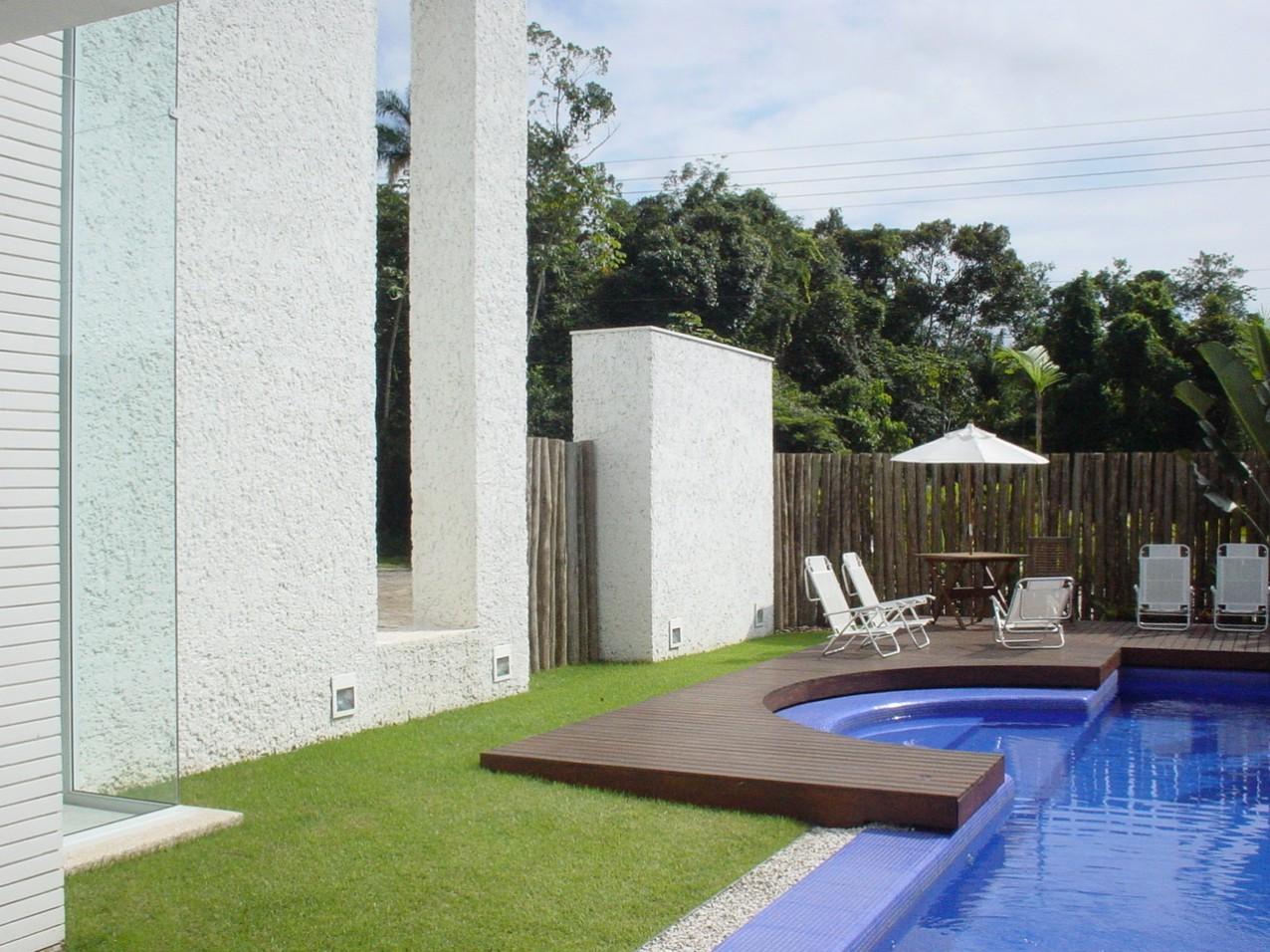 Obra residencial Riviera Sao Lourenco - Piscina